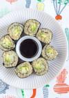 アボカドとキュウリを使ったキヌア寿司