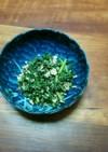 春菊とツナ缶の和え物