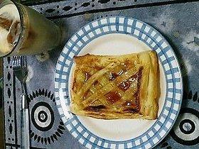 冷凍パイ生地とジャムで朝ごはん