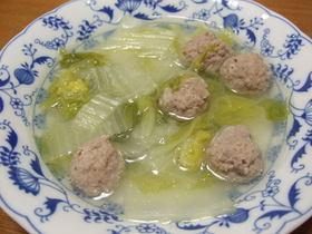 体に優しい♪肉団子と白菜のスープ