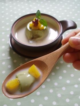 あずき豆乳の  甘味スープ
