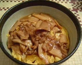 ★豚肉とエリンギのオイスターソース煮丼★