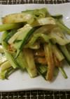 竹輪とキュウリのソースマヨ炒め