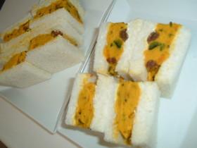 かぼちゃサラダのサンドイッチ