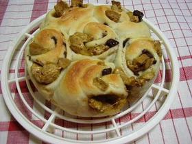 基本の生地でマシュマロ&チョコちぎりパン