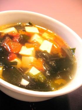 朝の中華スープ