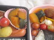 お弁当に♪レンジで1分×3かぼちゃの煮物の写真