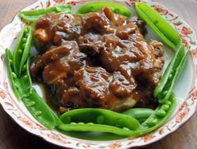 デーツと鶏のぶつ切りの煮物