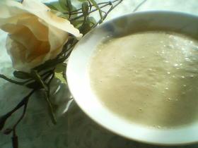 枝豆の豆乳ポタージュ