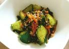 簡単!きゅうりとワカメと人参の中華サラダ
