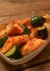 サラダチキンアレンジ2胡瓜と鶏キムチ和え