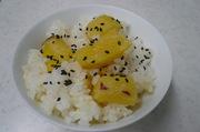 もちもちサツマイモご飯の写真