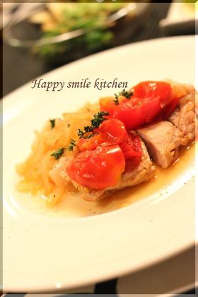 ノンオイル☆豚肉のトマト煮
