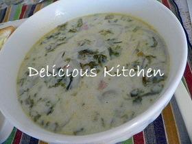 豆乳の韓国海苔スープ