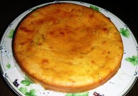 ノンエッグ超簡単チーズケーキもどきかぼす風味