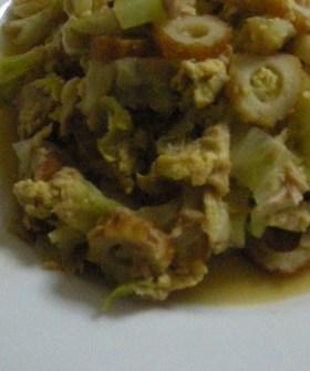 キャベツとツナの卵とじ(白菜OK)ク・普