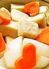 高野豆腐とかぶと人参の煮物