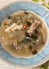 ごぼう入り酸辣湯風スープ