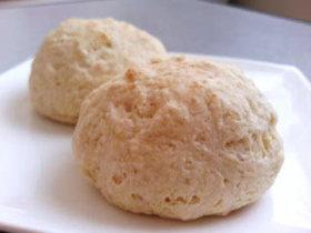 ホットケーキミックスと片栗粉でパン!