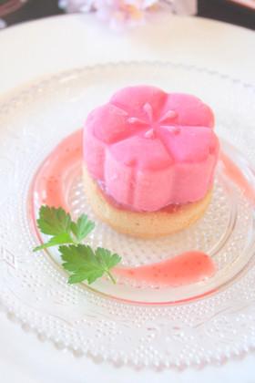 桜型ジェラートで作る、おもてなしスイーツ