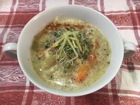 簡単エスニック風豆乳スープ