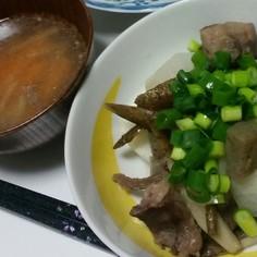 牛すじの茹で汁スープ