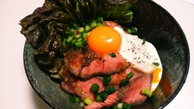 【炊飯器で】ローストビーフ丼