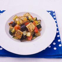 めかじきと夏野菜のさっぱり炒め
