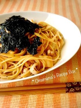 韓国風?!いか塩辛とキムチのスパゲティー