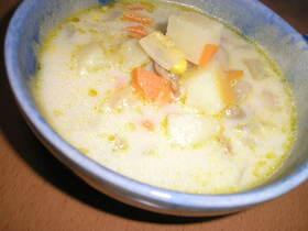 ポルチーニ茸の風味豊かなミルクスープ♪