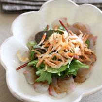 真鯛と桜海老のカルパッチョ