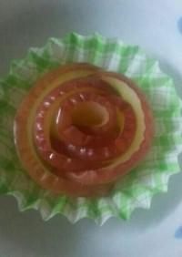 お弁当のデザートに☆薔薇の焼きりんご♪
