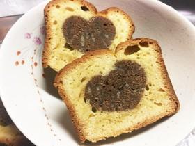 ハートのパウンドケーキ