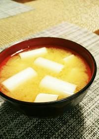 長ねぎと豆腐のお味噌汁