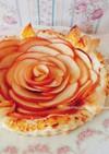 ホールで華やかな薔薇*バラのアップルパイ