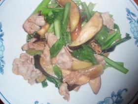 小松菜となすの簡単5分中華