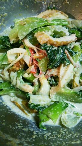 チンゲン菜の胡麻味噌マヨ和え