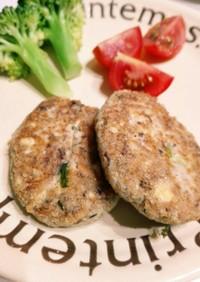 サバ缶で簡単ヘルシー豆腐ハンバーグ