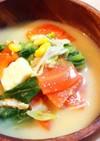 バター香る♬春キャベツの豆乳味噌汁♡