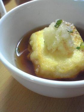 天ぷら粉で簡単!さくさく揚げ豆腐☆
