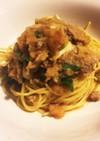 簡単☆豚肉とねぎのおろしスパゲティ☆