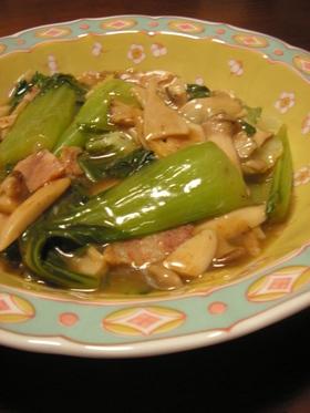 青梗菜とエリンギで中華風