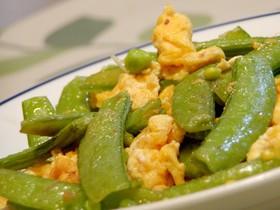 簡単中華★きぬさやと卵の炒め物