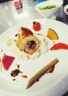 彩り野菜の鶏肉ロール(鶏肉ファルス)