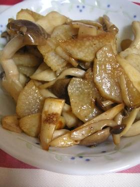 山芋と茸のバターしょうゆ炒め