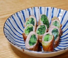 甘辛味の小松菜の豚肉巻き