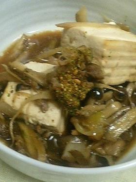 ごぼうたっぷり肉豆腐