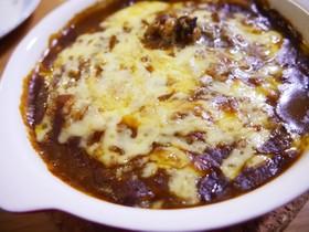 簡単*半熟卵の焼きチーズカレードリア
