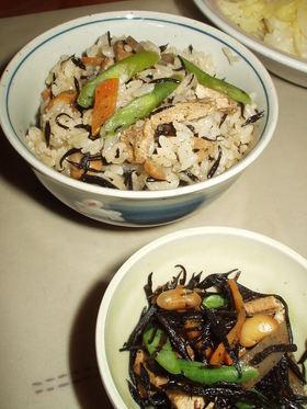 定番☆ひじきの炒め煮&ひじきご飯