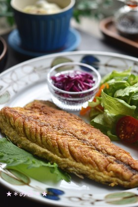 鯖のカレー粉焼き